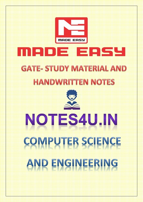 COMPUTER SCIENCE AND ENGINEERING GATE COMBO STUDY MATERIAL AND HANDWRITTEN  NOTES MADE EASY