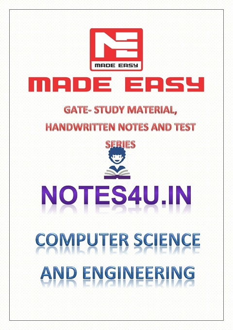 COMPUTER SCIENCE AND ENGINEERING GATE COMBO STUDY MATERIAL HANDWRITTEN  NOTES AND TEST SERIES MADE EASY