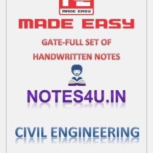 Mechanical Engineering MADE EASY HANDWRITTEN NOTES - Notes4u